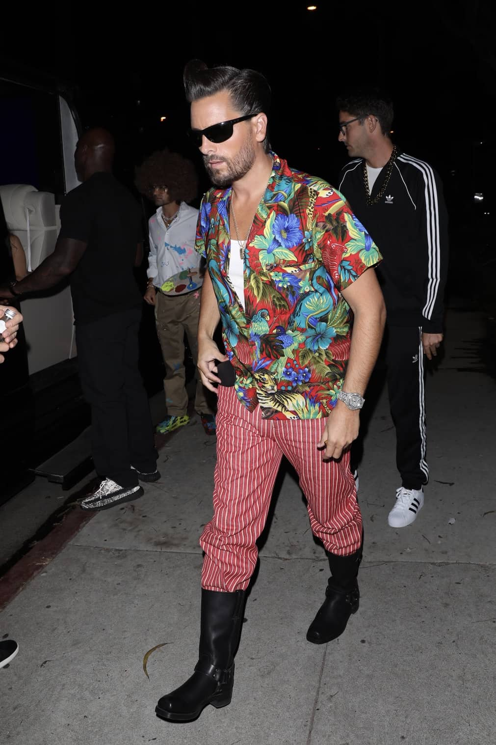 Scott Disick arrives to Halloween party