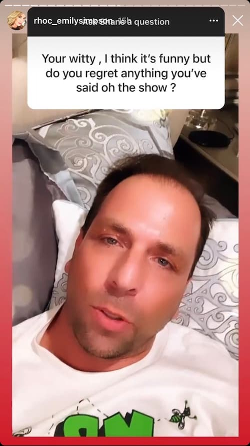 Shane Simpson Reveals His One RHOC Regret