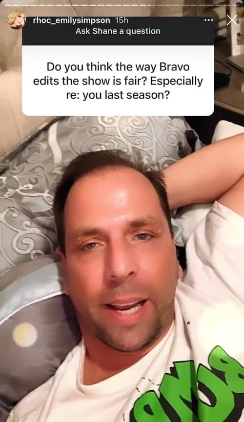 Shane Simpson isn't Bothered by Bravo's RHOC Edits