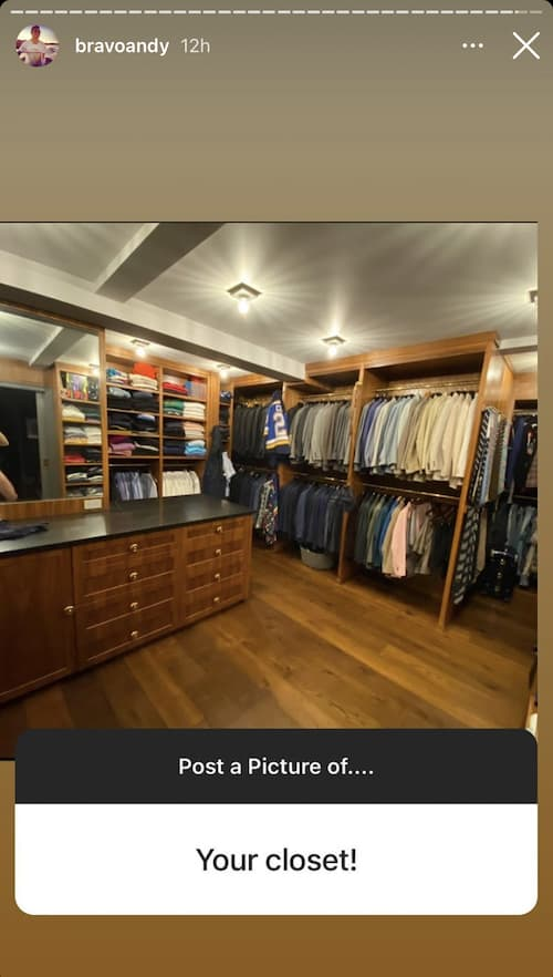 Andy Cohen Shows Off Closet
