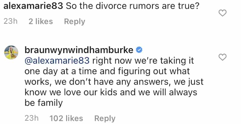 RHOC Braunwyn Windham-Burke Confirms She and Sean Burke Are Not Getting a Divorce