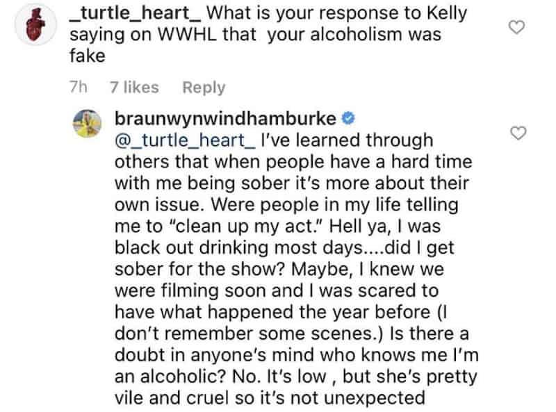 RHOC Braunwyn Windham-Burke Slams Vile and Cruel Kelly Dodd for Alcoholism Claims