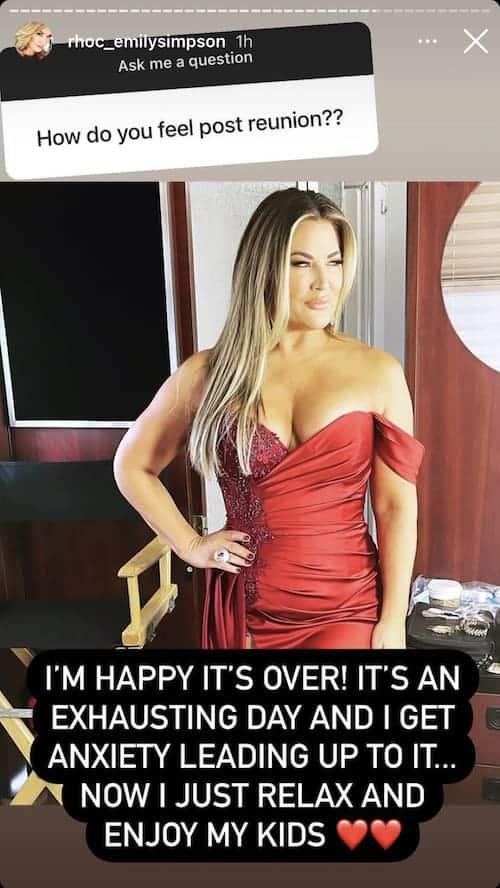 Emily Simpson Admits RHOC Season 15 Reunion Was Exhausting