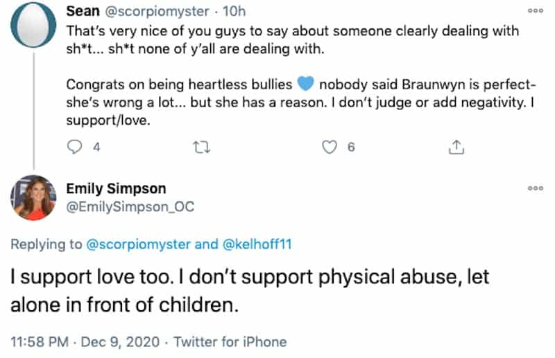 RHOC Emily Simpson Does Not Support Physical Abuse
