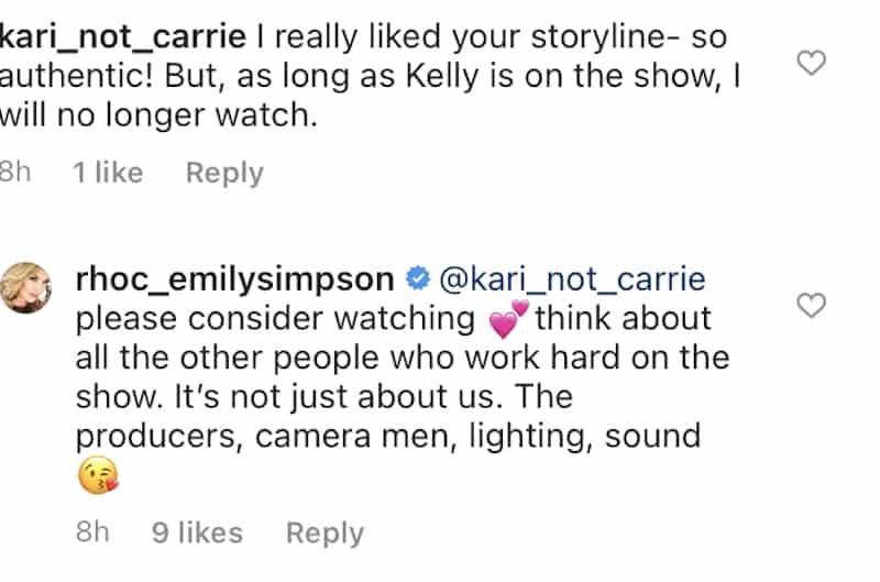 Emily Simpson React to RHOC Boycott Over Kelly Dodd