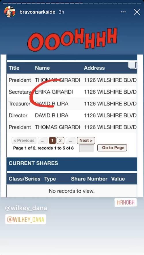 RHOBH Erika Jayne Listed as Thomas Girardi's Secretary