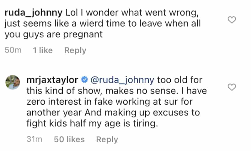 Jax Taylor Claims He's Too Old for Vanderpump Rules