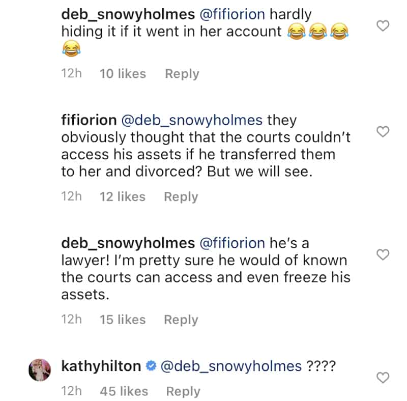 RHOBH Kathy Hilton Responds to Allegations Against Erika Jayne and Thomas Girardi