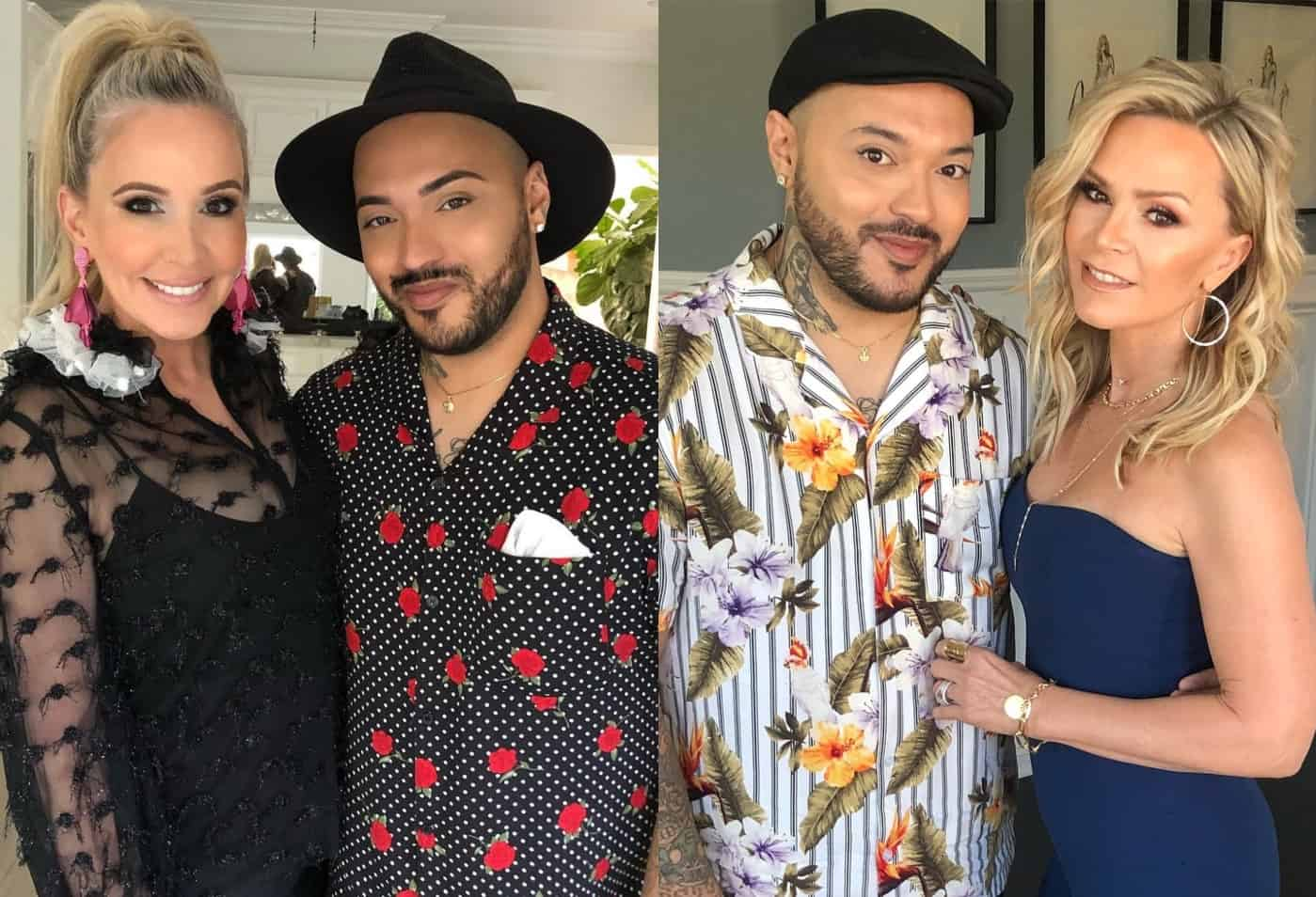 Makeup artist Tommy-William Echaves with Shannon Beador and Tamra Judge