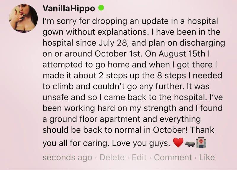 My 600 Lb Life Samantha Confirms Hospitalization