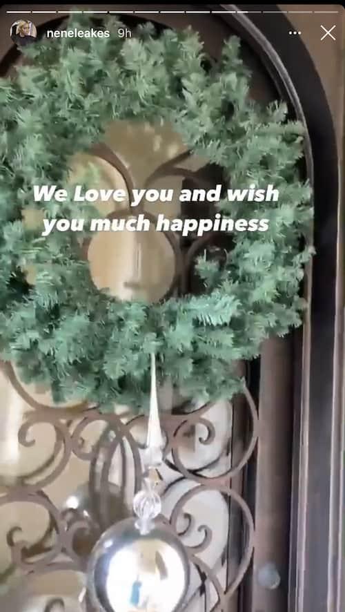 RHOA Nene Leakes Shows Off Wreath of Front Door