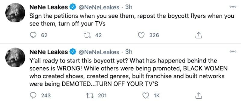 RHOA Nene Leakes Wants Fans to Sign Petition to Boycott Bravo