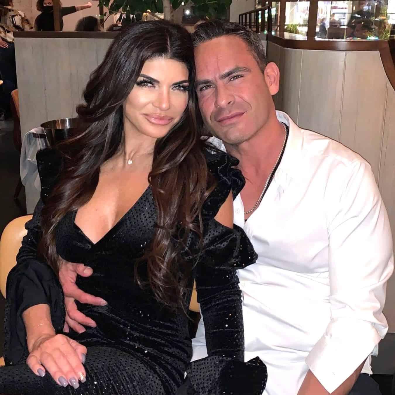 RHONJ star Teresa Giudice poses sitting down with new boyfriend Luis Ruelas