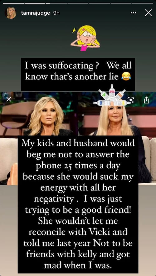 RHOC Tamra Judge Calls Out Shannon Beador for Draining Her and Bringing Negativity