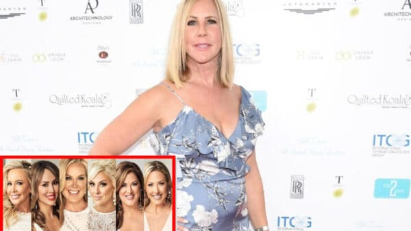 """Vicki Gunvalson Disses RHOC for Spotlighting Shannon Beador's Whining, Braunwyn Windham's Alcoholism, and Kelly Dodd's """"Trashy Mouth,"""" Plus Opens Up About Relationship With Fiancé Steve Lodge"""