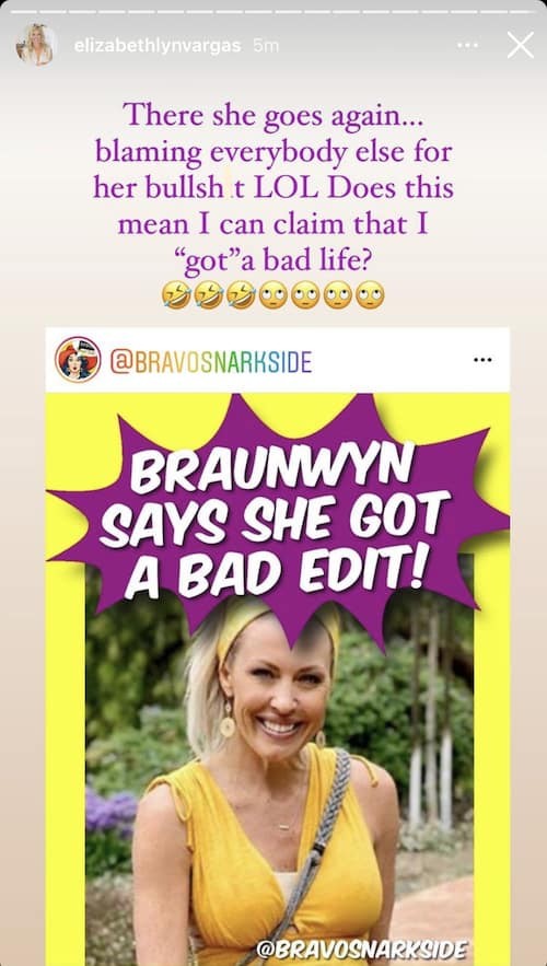 RHOC Elizabeth Vargas Reacts to Braunwyn Windham-Burke's Claims of a Bad Edit