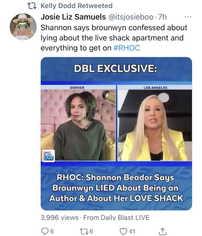Kelly Dodd Confirms Braunwyn Windham-Burke Lied to Get Cast on RHOC