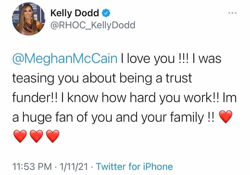 RHOC Kelly Dodd Defends Her Trust Fund Comment to Meghan McCain