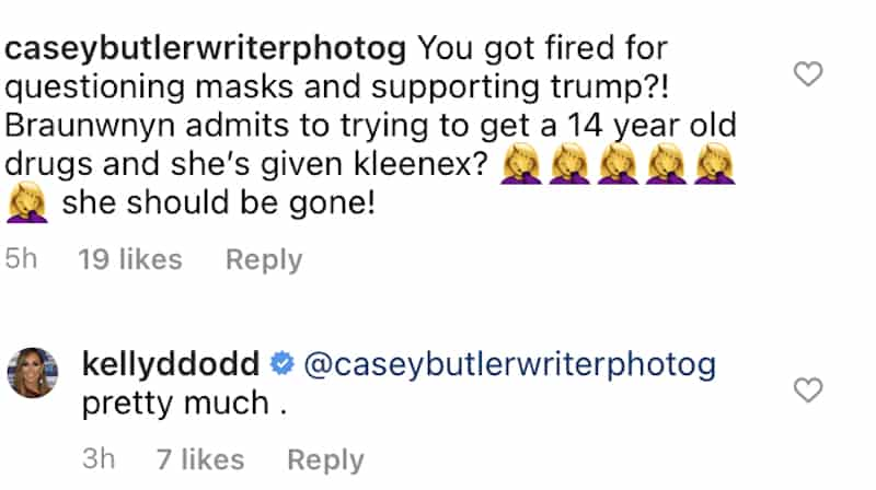 Kelly Dodd reacts to possible double standards from the RHOC production