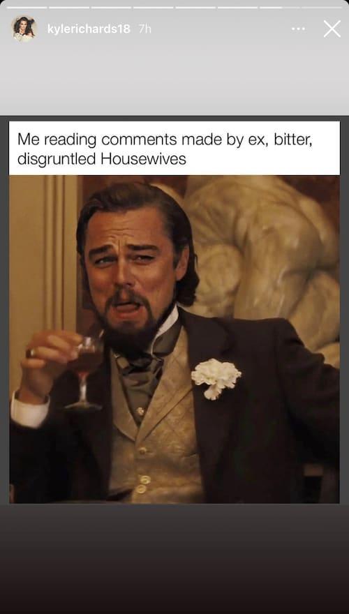 RHOBH Kyle Richards Seemingly Disses Lisa Vanderpump With Meme on Instagram Stories
