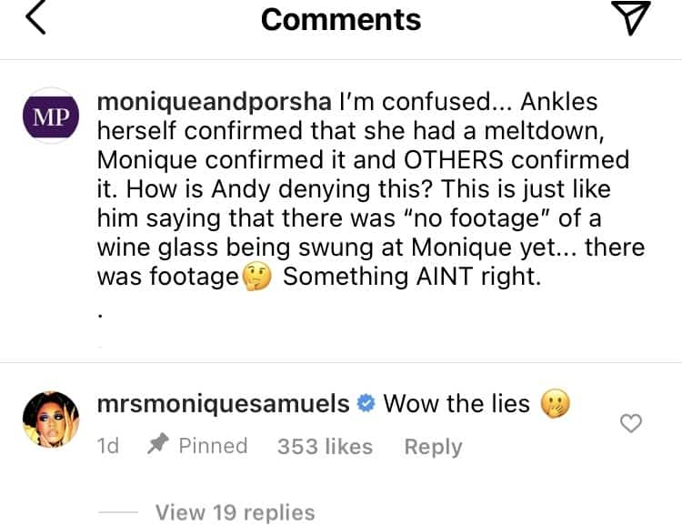 Monique Samuels Disagrees with Andy Cohen over RHOP Reunion Gizelle