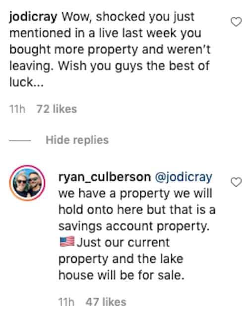 RHOC Ryan Culberson Will Retain North Carolina Property After Chicago Move