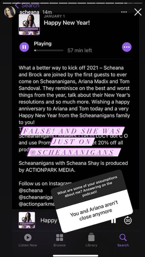 Vanderpump Rules Scheana Shay Denies She is No Longer Close to Ariana Madix
