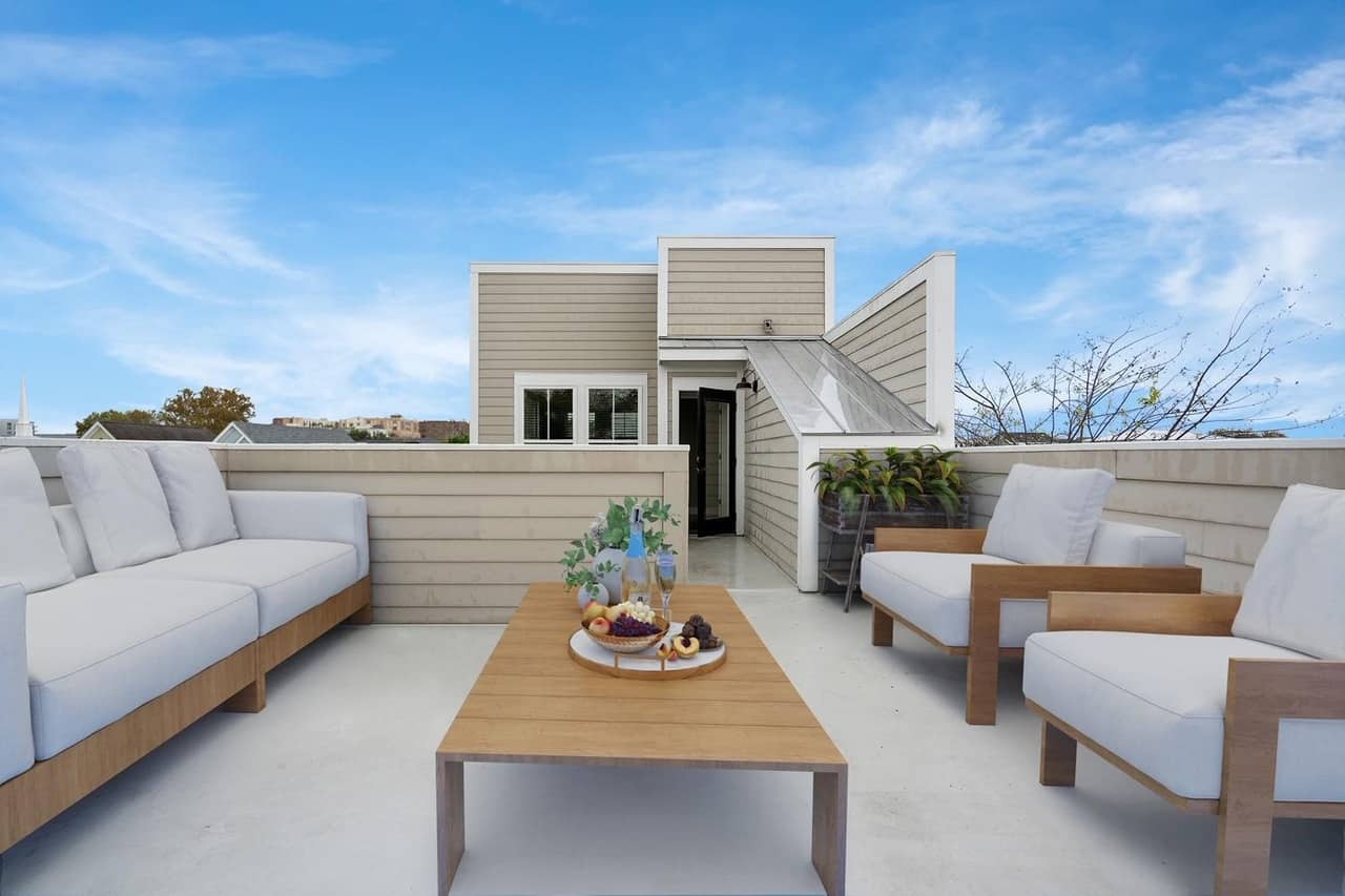 Shep Rose home outdoor sitting area