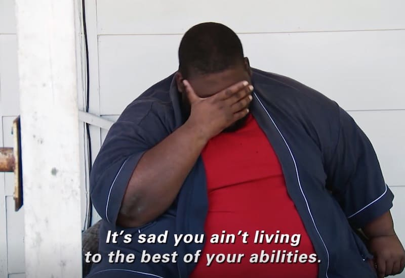 Thederick Barnes Talks To a Friend on My 600 Lb Life