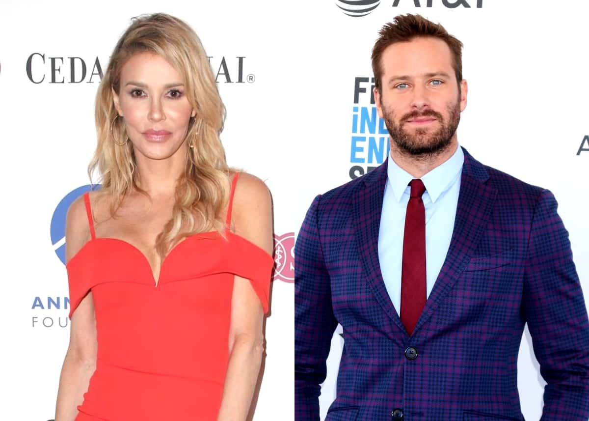 "Brandi Glanville Tells Armie Hammer ""You Can Have My Rib Cage"" In A Shocking Twitter Post Amid His ""Cannibalism"" Scandal As RHOBH Star Faces Backlash From Fans"