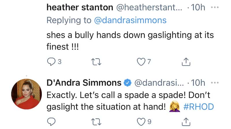 RHOD D'Andra Simmons Agrees Kary Brittingham is a Bully