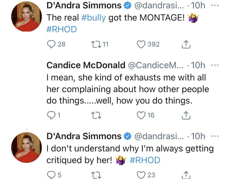 RHOD D'Andra Simmons Notes Kary Brittingham as Bully