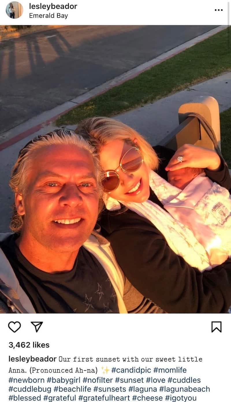 RHOC David Beador and Wife Lesley Welcome a Baby Girl