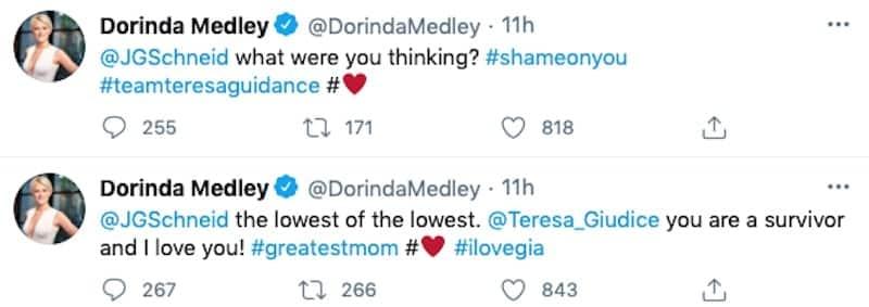 RHONY Dorinda Medley Shades Jackie Goldschneider for Gia Giudice Rumor on Twitter