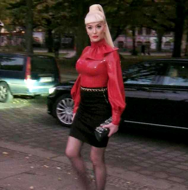 Erika Jayne Latex red outfit