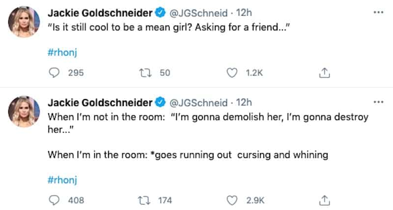 RHONJ Jackie Goldschneider Slams Teresa Giudice as a Mean Girl and Two-Faced