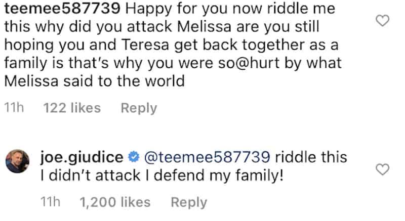 RHONJ Joe Giudice Denies Attacking Family Amid Melissa Gorga Feud