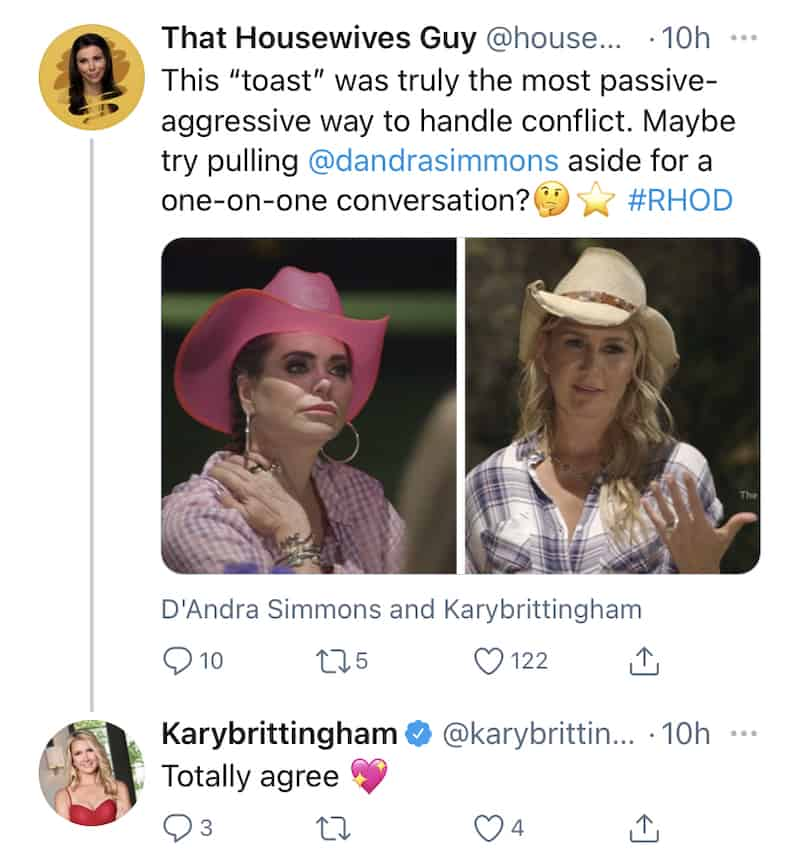 RHOD Kary Brittingham Admits to Being Passive Agressive With D'Andra Simmons