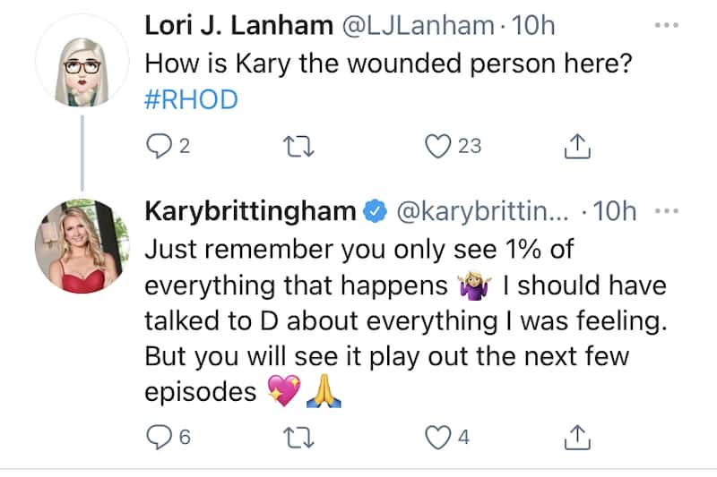 RHOD Kary Brittingham Teases More Drama With D'Andra Simmons