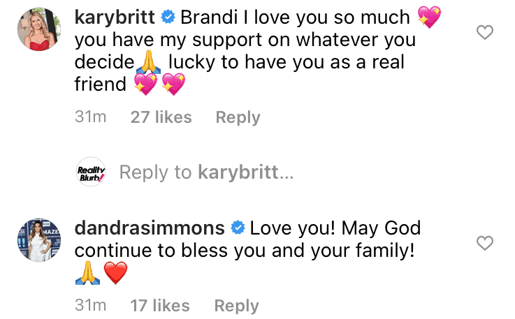 Kary and D'Andra react to Brandi leaving RHOD