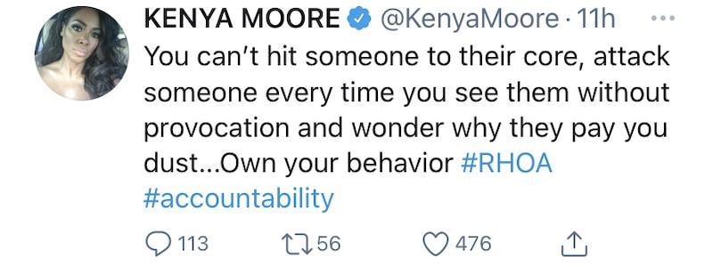 Kenya Moore Blames Marlo Hampton for RHOA Feud