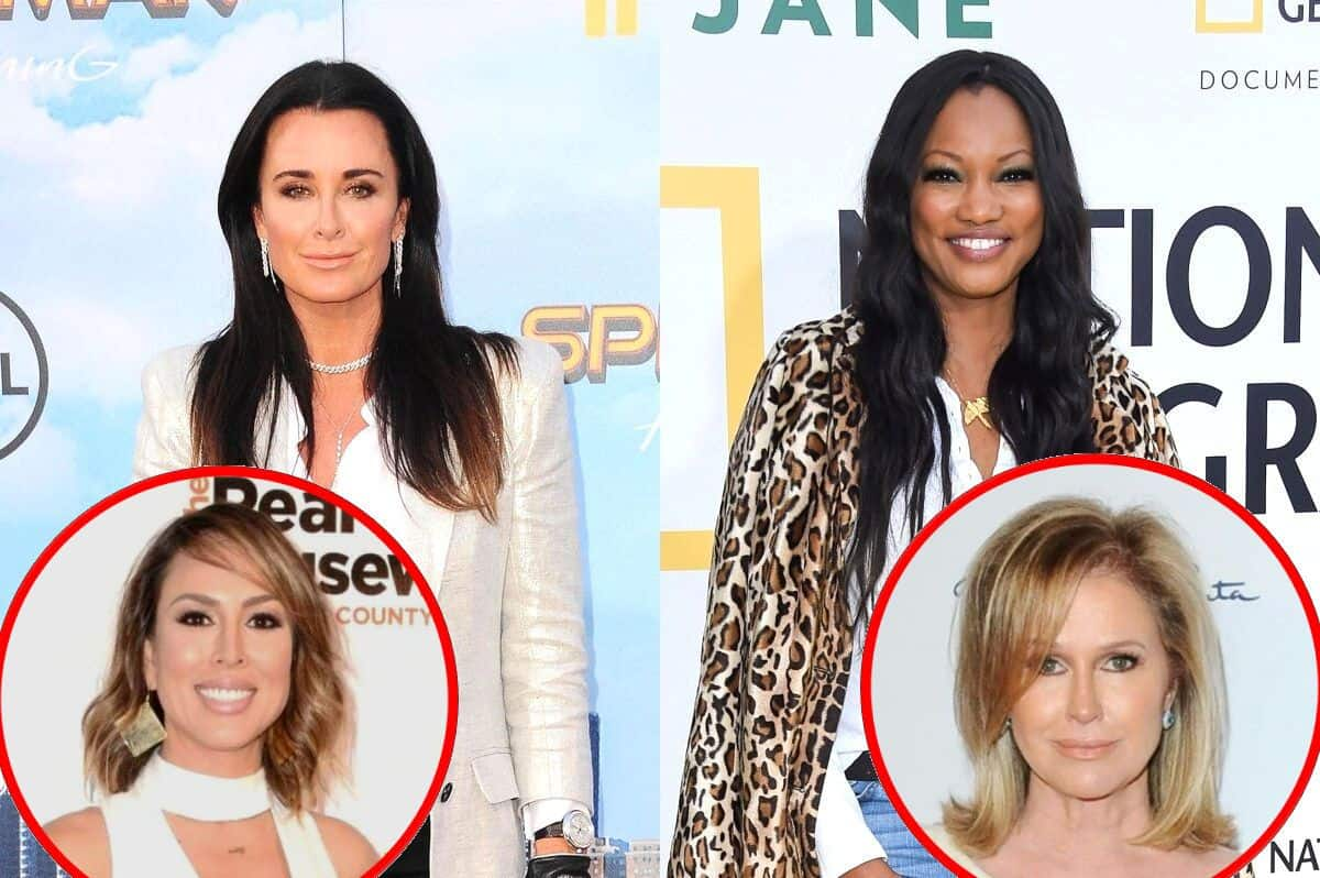 "RHOBH's Kyle Richards Denies Shading Garcelle Beauvais And Explains Why She's Missing In Photo, Weighs In On Kelly Dodd Drama And Claims Working With Sister Kathy Hilton Is ""Interesting"""