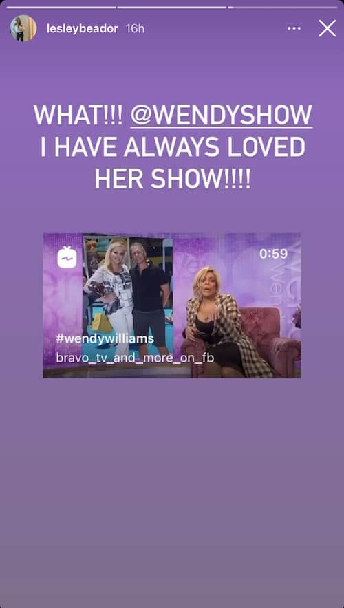 RHOC Lesley Cook Reacts to Mention by The Wendy Williams Show
