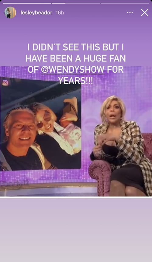 RHOC Lesley Cook Reacts to Wendy Williams Shoutout
