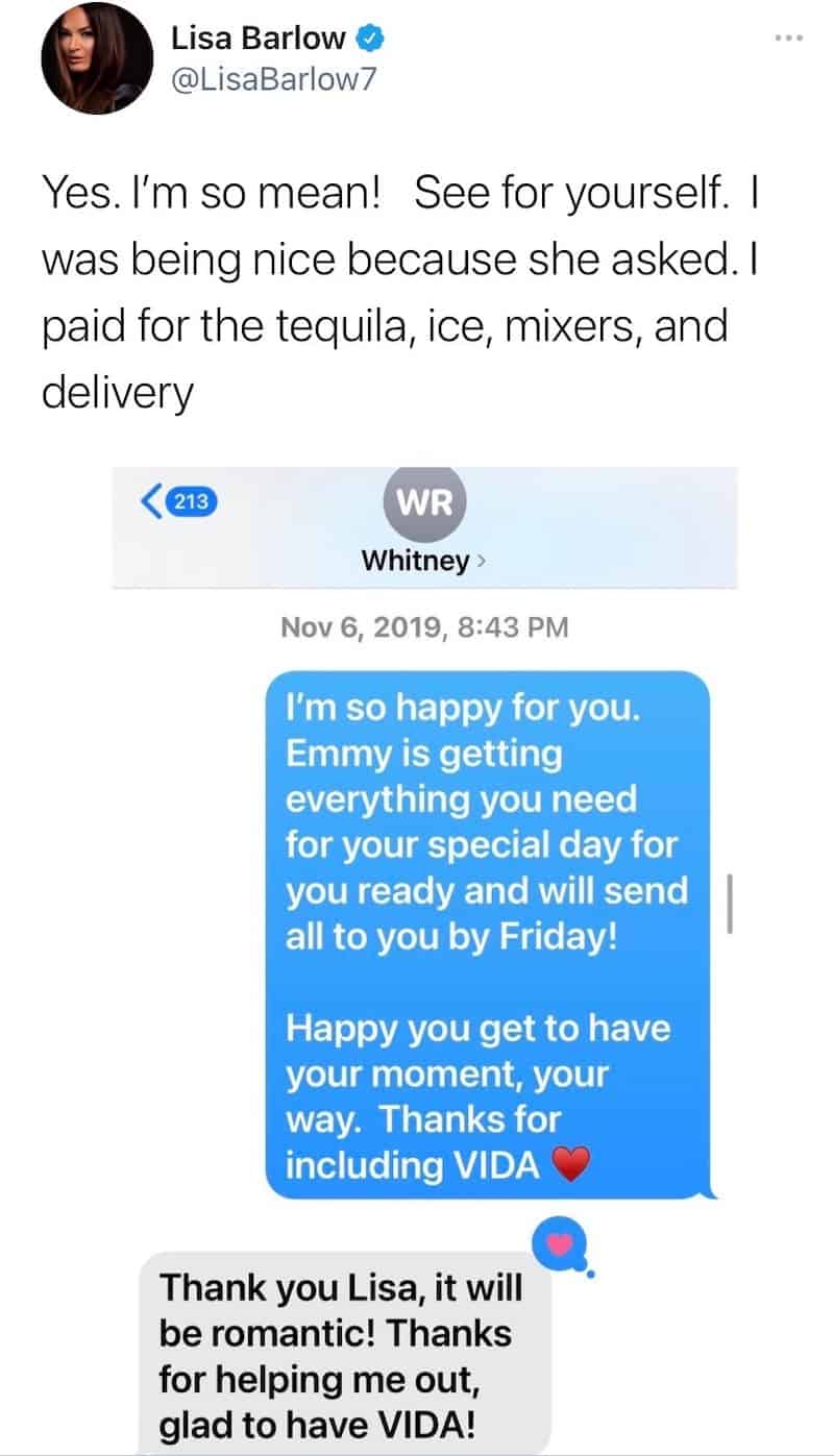 RHOSLC Lisa Barlow Insists She Paid for Whitney Rose's Vow Renewal Tequila
