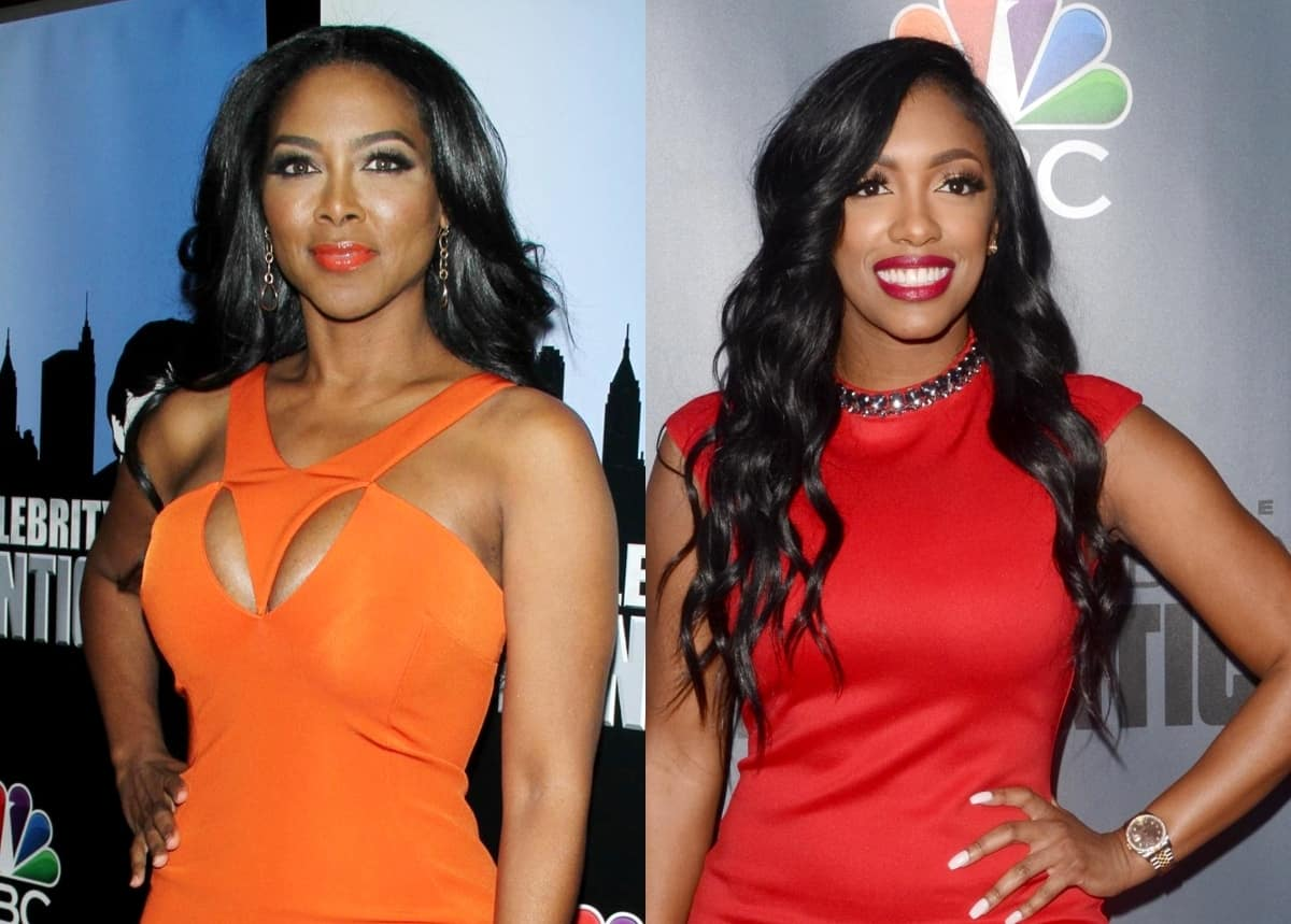 """Kenya Moore Defends Herself Against """"Snitching"""" Claims As She Blasts Porsha Williams And RHOA Co-Stars On Twitter, Says Don't Do """"Private Business"""" On A Reality Show"""