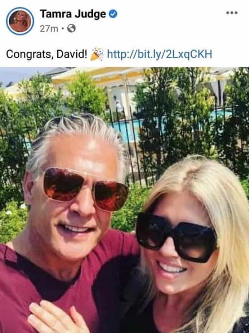 RHOC Tamra Judge Congratulates David Beador on Baby Girl