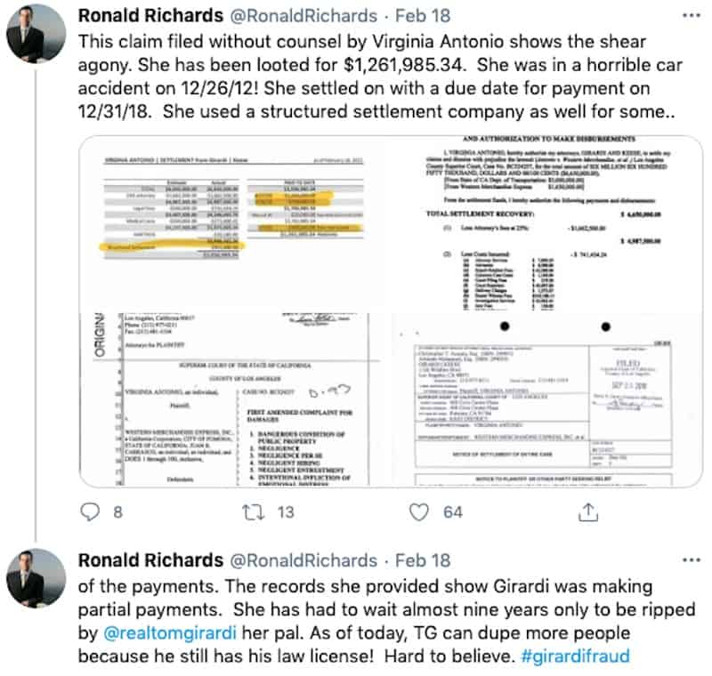 RHOBH Thomas Girardi Accused of Stiffing Victim Settlement Money