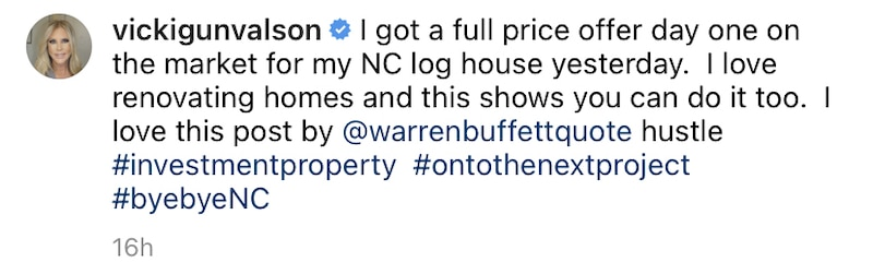 RHOC Vicki Gunvalson Confirms Full Price Offer on North Carolina Lake House