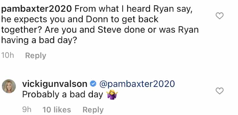 RHOC Vicki Gunvalson Reacts After Ryan Culberson Allegedly Says She'll Reunite With Donn